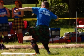 A heavy events competitor prepares to throw