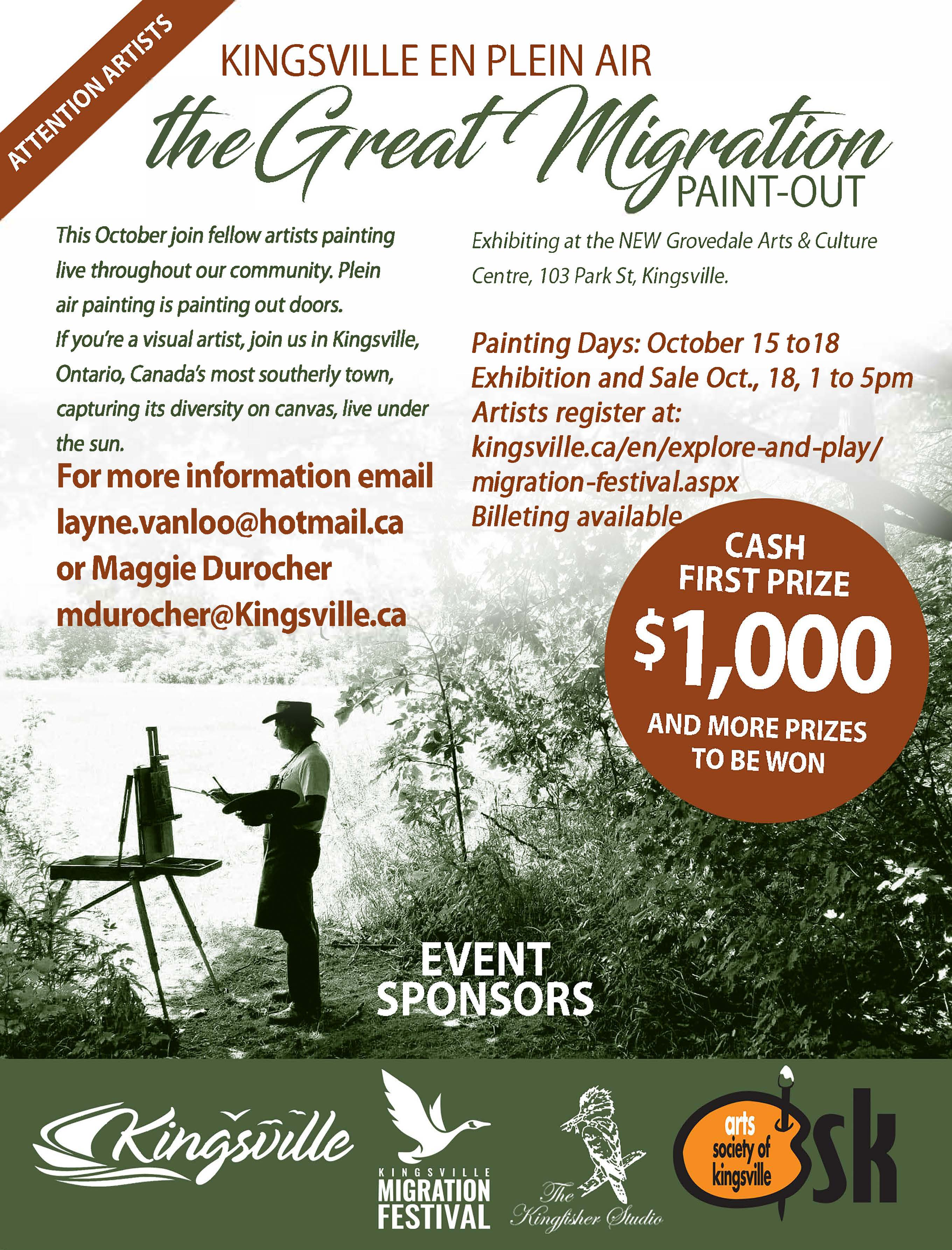 Poster for Great Migration Paint out showing someone painting